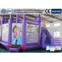 Quality Purple Comemecial Inflatable Bouncers Dora Bouncy Castle with Slide Combo for sale