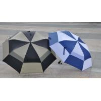 Quality 2 Big Folding Automatic Golf Umbrella Double Layers Fiberglass Shaft / Ribs for sale