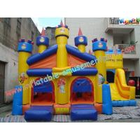 Quality Outdoor PVC Inflatable Bouncer Slide With Castle For Adults / Kids for sale
