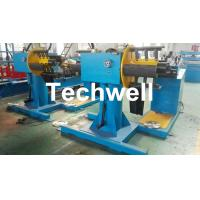 Quality Manual / Passive Type Uncoiler Machine With Rotary Double Head Mandrel For Supporting The Coil Strip for sale