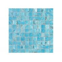 Quality Beautiful Blue Shell Mosaic Tile 12 X 12 Gap Mesh For Swimming Pool for sale