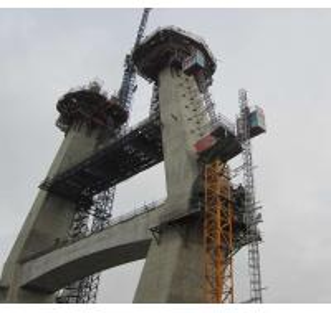 China Bridge Pylon Elevator Lift Personnel Hoist Bridge Construction Permanent Installation on sale