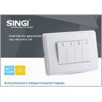 Quality GNW58C Professional  Factory Supply wall switch and socket of 10a four gang double way  switched socket with double pole for sale