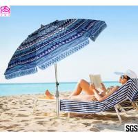 Buy cheap 6FT 1.8m Patio Custom Portable Travel Beach Sun Umbrella Shelter With Powder Coated Frame from wholesalers