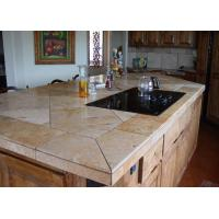 Quality Golsen King Stone Vanity Kitchen Island Waterfall Edge For Restaurant Cafe Shop for sale