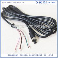 Quality 7 Pin 3 Terminal Extension Cable For Security Cameras , Black PVC Material for sale