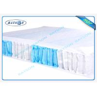 Quality 70 Gram White / Blue Color 47cm Width PP Non Woven Fabric For Box Spring Cover for sale