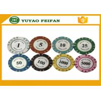 Quality 13.5 Gram Crown Monte Carlo Casino Poker Chips With Pantone Color 40x3.3mm for sale