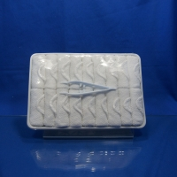Quality White 100% Cotton Airline Disposable Hot Towel for sale