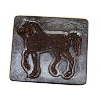 Quality Embossed Jeans Leather Patches , Personalized Clothing Labels for sale