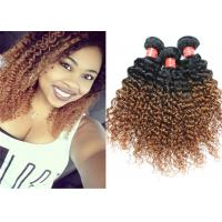 Quality Highlighted Deep Curly Wavy Ombre Hair Extensions For Black Women for sale