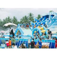 Quality Commercial Portable PVC Inflatable Water Pool Rectangular Metal Frame Swimming Pool for sale