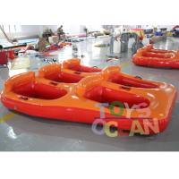 Quality 5 Person Donut Boat Inflatable Water Towable Tube Ski Boat For Jet Ski Water Fun for sale