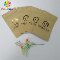Quality Three Side Sealed Kraft Customized Paper Bags Foil Lined Organic Roasted Coffee Packing for sale