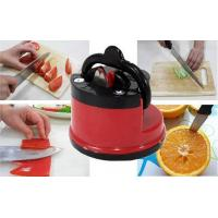 Quality Mini Manual Kitchen Knife Sharpener ABS Plastic Lightweight With Suction Cup Kitchen Tool for sale