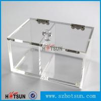 2016 newest clear/plexiglass customised acrylic small boxes with lid