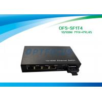 1310nm 20KM SC Optical Fiber Switch , 10Mbps / 100Mbps Switch 12G Single Mode Fiber