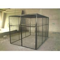 Buy cheap outdoor welded mesh parrot/birds aviary house black powder coated big aviary cage for sale from wholesalers