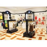 Buy Durable Kids Retail Clothing Fixtures Garment Shop Wood Adjustable Shelves at wholesale prices