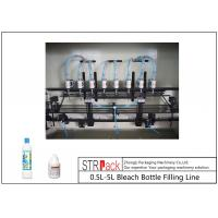 Buy Anti Corrosive Automatic Liquid Filling Machine , 84 Disinfectant / Bleach Filling Machine at wholesale prices