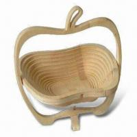 Quality Wooden Fruit Baskets, Measures 10.5 x 11.75 x 9 Inches for sale