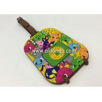 Quality High quality cheap price cartoon animal simple words style pvc luggage tag custom for sale