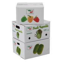 small brown paper vegetable shipping wax box
