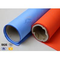Quality Blue Rubber Silicone Coated Fiberglass Fabric Thermal Insulation Cover 18oz for sale