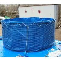 Quality 2MM Steel Mesh Tarpaulin Fish Tank And Tarpaulin Fish Farming Round Fish Pond for sale