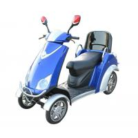 Quality Comfortable 4 Wheel Power Scooters Blue Battery Operated Scooter With Four Wheels for sale