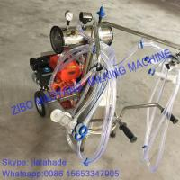 Gasoline-Vacuum Pump Dual-Typed Single Bucket Portable Milking Machine,Double Motor for cow and goat,easy handle machine