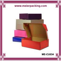 Quality Color printed corrugated paper shoes mailing box/Popular design rigid corrugated packaging box ME-CU034 for sale