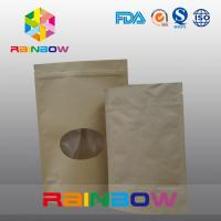China Plain Brown Zipper Top Kraft Paper Bag Customized Paper Bags For Pepper Snack Candy on sale