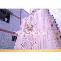 China UV Resist Attractive Inflatable Sport Games Climb Wall For Community Events on sale