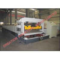 Quality Corrugated Sheet Roof Tile Roll Forming Machine With Mitsubishi PLC Control Box for sale