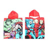 Quality Customized Kids Bath Towels Hulk Marvel Giant Comics Pattern 340 Gsm for sale