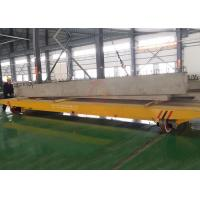 Quality Metallurgy industry apply steel sheet handling low voltage rail electric flat car for sale