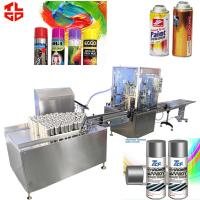 Quality Automatic 450ml Aerosol Can Filling Machine For Colorful Car Rubber Paint for sale