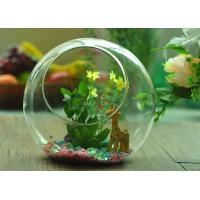 Quality Gift Hanging Teardrop Tealight Holder / Hanging Glass Terrarium Containers for sale