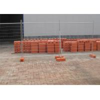 Quality Construction Temp Fence Panels 2.1mx2.4m OD 28mm wall thick 2.00mm Mesh 60mm*150mm*diameter 4.00mm for sale