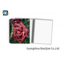 Quality 0.6mm PET Material Personalized Spiral Notebooks  3D Lenticular Stationery for sale