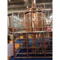 Buy Red Copper Commercial Beer Brewing Equipment 100MM Insulation Thickness at wholesale prices
