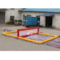 Quality Mobile giant floating inflatable water volleyball court for kids N adults water entertainments for sale
