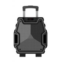 Buy 8 Inch Outdoor Black Color Portable Plastic Body Speaker System With Bluetooth at wholesale prices