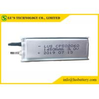 China primary lithium battery 3V 1450mah CP502060 ultra thin cell 3V CP502060 disposable battery 1450mah on sale