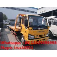 Quality Japan brand ISUZU 4*2 LHD 4tons wrecker truck for sale, best price factory sale ISUZU traffic flatbed breakdown truck for sale