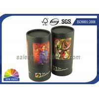 Quality Custom Tea / Coffee Beans Cardboard Cylinder Tubes Packaging Tubes for sale