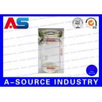 China Sterile Small Glass Vials Bottle Packaging With Grey Rubber And Flip Off on sale