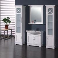 Quality Oak Bathroom Cabinet with Main Cabinet Size of 77 x 31.5 x 67cm for sale
