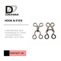 Quality 8mm Brass Hook And Eye Non Slip Nickel Free For Dress / BRA / Trousers for sale